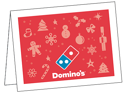 Christmas Notecard.Domino S Pizza Local Store Marketing Materials