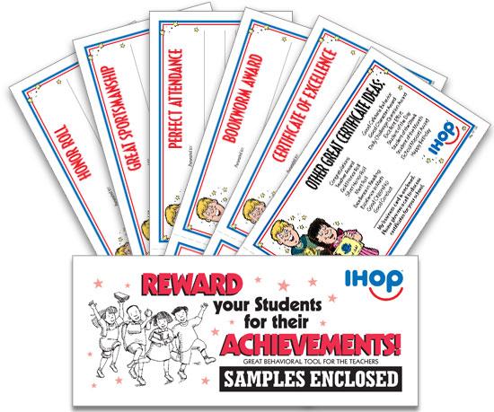 IHOP Local Store Marketing :: SCHOOL CERTIFICATES SAMPLE PACK