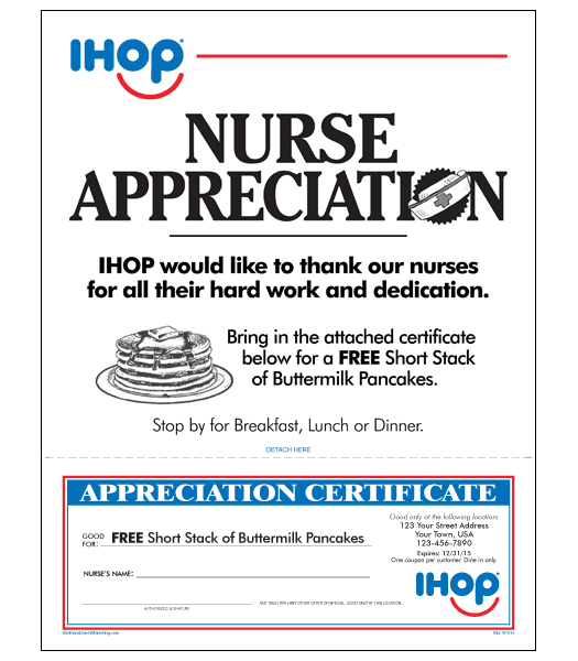 Ihop local store marketing nurse appreciation letter ihop nurse appreciation letter yadclub Choice Image