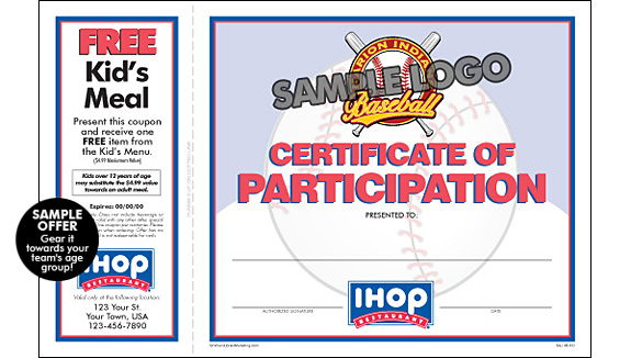 ihop local store marketing    sports participation