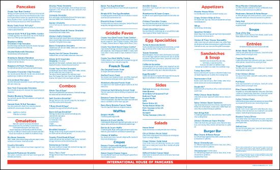 Ihop menu specials 2015 for Carryout menu