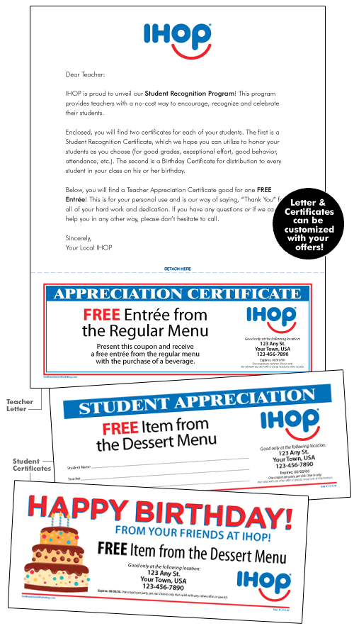 IHOP Local Store Marketing :: STUDENT RECOGNITION